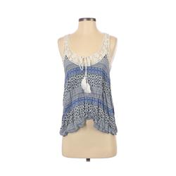 Cozy Casuals Sleeveless Top Blue Scoop Neck Tops - Used - Size Small