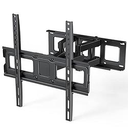 ERGO TAB Full Motion TV Wall Mount Bracket for Most 26-55 Inch LED LCD OLED Flat and Curved TVs, Dual Articulating Swivel Arms Extension Tilts Rotation with Max VESA 400x400mm, Holds up to 99 lbs