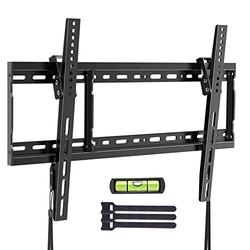 Tilt TV Wall Mount Bracket Low Profile for Most 37-75 Inch LED LCD OLED Plasma Flat Curved Screen TVs, Fits 16-24 Inch Wood Studs with Max VESA 600x400mm and Loading 132lbs by ERGO TAB, Black (EBLTK4)