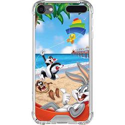 Skinit Clear MP3 Player Case Compatible with iPod Touch 5th-7th Gen - Officially Licensed Warner Bros Looney Tunes Beach Design