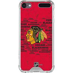 Skinit Clear MP3 Player Case Compatible with iPod Touch 5th-7th Gen - Officially Licensed NHL Chicago Blackhawks Blast Design