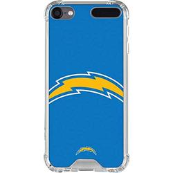 Skinit Clear MP3 Player Case Compatible with iPod Touch 5th-7th Gen - Officially Licensed NFL Los Angeles Chargers Large Logo Design