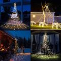 """Christmas Decorations Outdoor Star Lights ,16.4Ft Christmas Tree Toppers String Lights 320 LED 8 Memory Modes Timer with 14"""" Lighted Star for Halloween Christmas Holiday Birthday Festival(Warm White)"""