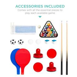 """Best Choice Products Childrens Arcade 4 Games 32"""" Multi Game Table Mdf, Size 7.75 H x 32.0 W x 17.0 D in 