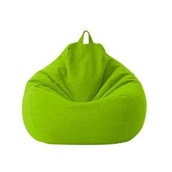 Lazy Sofa Chairs Cover Lounger Bean Bag Storage Chair Cover for Home with Removable Cover Garden Lounge Living Room Chairs Furniture (7080cm, Green)