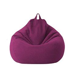 Lazy Sofa Chairs Cover Lounger Bean Bag Storage Chair Cover for Home with Removable Cover Garden Lounge Living Room Chairs Furniture (100120cm, Purple)