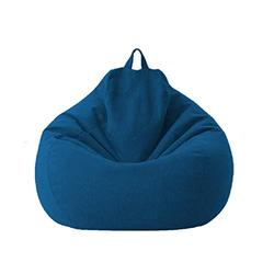 Lazy Sofa Chairs Cover Lounger Bean Bag Storage Chair Cover for Home with Removable Cover Garden Lounge Living Room Chairs Furniture (100120cm, Blue)