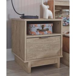 Signature Design by Ashley Furniture Nightstands Natural - Brown Oliah One-Drawer Nightstand