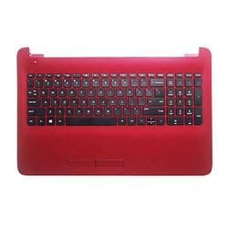 English New Keyboard for HP HP 250 255 256 G5 G4 15-AC 15-AF Upper Case Palmrest Cover AP1EM000322 Touchpad (Red with Keyboard)
