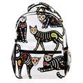Sugar Skull Black Cats Mexican Day of The Dead Laptop Backpack for Men School Bookbag Travel Rucksack Daypack School Bag for Women Girls