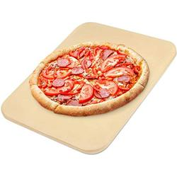 Pizza Stone, Heavy Duty Pizza Grilling Stone, Ceramic Baking Stone, Pizza Pan for Oven, BBQ and Grill, Thermal Shock Resistant, 15x12 Inch