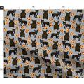 Spoonflower Fabric - French Bulldog Pizza Pizzas Frenchie Dog Dogs Bulldogs Printed on Fleece Fabric by The Yard - Sewing Blankets Loungewear and No-Sew Projects
