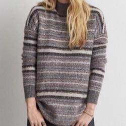 American Eagle Outfitters Sweaters   American Eagle Grey Striped Mock Neck Sweater   Color: Blue/Gray   Size: M