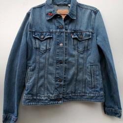Levi's Jackets & Coats   Levi'S Denim Trucker Jean Jacket Embroidered Tatoo   Color: Blue   Size: M