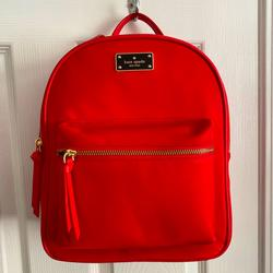 Kate Spade Bags | New Kate Spade Small Bradley Backpack | Color: Red | Size: Os