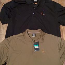 Nike Shirts | 2 Mens Nike Polo Shirts | Color: Black/Tan | Size: Xl