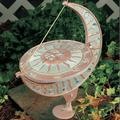 Whitehall Products Sun & Moon Sundial Metal, Size 15.5 H x 12.0 W x 8.75 D in | Wayfair 1272