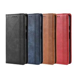 Acase mall for Huawei P40 Lite 5G PU Leather Wallet Case Huawei P40 Lite 5G/va7se case Simple Wallet Cover with Card Holder Vegan Leather Case PU Leather Flip Case, TPU Huawei P40 Lite 5G/va7se Red