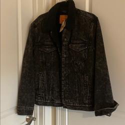 Levi's Jackets & Coats | Levi Denim Jacket | Color: Black/White | Size: M