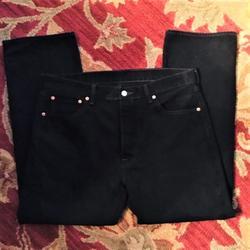 Levi's Jeans   Levis 501 Black Denim Boot Cut Jeans   Color: Black   Size: 36x30