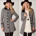 Free People Jackets & Coats   Free People Boho Retro Wool Blend Tapestry Coat   Color: Black/Gray   Size: 8