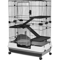 """A&E Cage Co. Small Animal Cage w/ Ramp, Metal in Black, Size 43"""" H x 39"""" W x 26"""" D   Wayfair ARB100-2"""