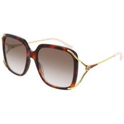 GG0647S 002 Women's Sunglasses Tortoise - Brown - Gucci Sunglasses
