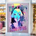 "AJ WALLPAPER 3D Short Hair Woman 010 Paintable Wall Mural Vinyl in Blue/Pink, Size 17.1' L x 114"" W | Wayfair Wallpaper-7-8"