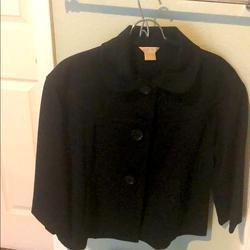 Michael Kors Jackets & Coats | Michael Kors Cape Coat 3 Button Jacket L | Color: Black | Size: L