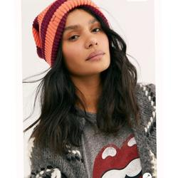 Free People Accessories | Fpoutside The Lines Beanie Hats | Color: Orange/Red | Size: Os