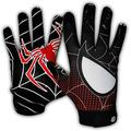 Taqcha Football Gloves-Tacky Grip Skin Tight Adult Football Gloves-Enhanced Performance Football Gloves Men-Pro Elite Super Sticky Receiver Football Gloves-Adult Sizes (X-Large)