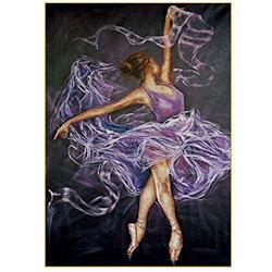 JYKFJ 5D Diamond Painting Ballet Girl Full by Number Kits Paint with Diamonds Gem Art Kits Adults Cross Stitch Kits Art Crystal Rhinestone Embroidery kit Craft Home Wall Decor