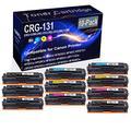 10-Pack (4BK+2C+2Y+2M) Compatible imageClass MF8280Cw Laser Toner Cartridge (High Capacity) Replacement for Canon CRG-131 (CRG-131BK CRG-131C CRG-131Y CRG-131M) Printer Toner Cartridge