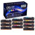 10-Pack (4BK+2C+2Y+2M) Compatible imageClass MF8280Cw Laser Printer Toner Cartridge (High Capacity) Replacement for Canon CRG-131 (CRG-131BK CRG-131C CRG-131Y CRG-131M) Printer Toner Cartridge