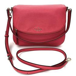 Kate Spade New York Jackson Soft Pebbled Leather Medium Flap Shoulder bag (Stoplight)