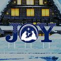 Holy Nativity - Joy Yard Sign Letters - Merry Christmas Yard Décor for Christmas Holiday Winter Decorations Outdoor with Metal Stakes, VP5305
