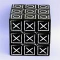 Magic Cube Black 3X3x3, Fingerprint Speed Cube, Braille Speed Cube, Embossed Magic Cube Puzzle Toys Brain Teaser Gifts for Kids and Adults