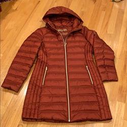 Michael Kors Jackets & Coats | Michael Michael Korsquilted Packable Puffer Coat | Color: Orange | Size: M