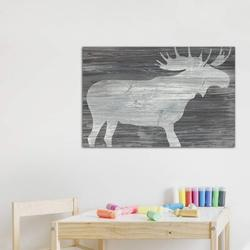 East Urban Home Vintage Plains Animals IV - Print Canvas & Fabric/Metal in Brown/Gray, Size 26.0 H x 40.0 W x 0.75 D in   Wayfair