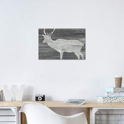East Urban Home Vintage Plains Animals III - Print Canvas & Fabric in Brown/Gray, Size 18.0 H x 26.0 W x 0.75 D in   Wayfair