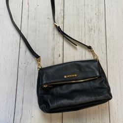 Michael Kors Bags | Michael Kors Crossbody Flap Tote Purse | Color: Black/Gold | Size: Medium