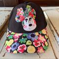 Disney Accessories   Disney Minnie Flower Trucker Snapback Hat   Color: Black   Size: Os