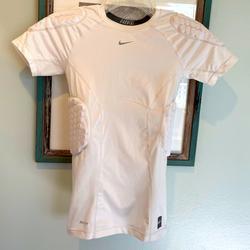 Nike Shirts & Tops | Nike Youth Boys Combat Padded Football Shirt | Color: White | Size: Xlb