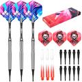 CyeeLife 90% 20G Tungsten Soft Tip Darts Set,Aluminium Shafts+PVC Gradient Shafts+Extra Flights+Extra Tips,Professional Plastic Darts for Competition