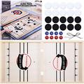 Toydaze Foldable Sling Foosball Large Double-Sided 3 Games in 1(Fast Sling Puck/Shuffleboard/Curling), Adult Size Foosball Winner Board Foosball Slingshot Tabletop Wooden Sling Hockey Dexterity Game