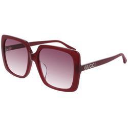 GG0728SA Asian Fit 003 Women's Sunglasses - Red - Gucci Sunglasses