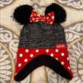 Disney Accessories | Minnie Toddler Beanie Winter Hat | Color: Black/Red | Size: Osbb