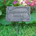 August Grove® Gerika Marker Happiness Grows In Our Garden Garden Sign, Metal in Antique Bronze, Size Medium (1'-2') | Wayfair