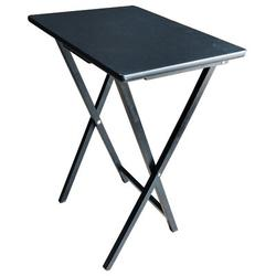 17 Stories Howington Tray Table Set Wood in Black/Brown, Size 26.5 H x 19.25 W x 15.0 D in | Wayfair BD2958368BC74196873CB286043EB006