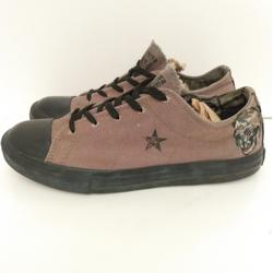 Converse Shoes | Converse One Star Army Green Skull Shoes Jr Size 5 | Color: Black/Green | Size: 5bb